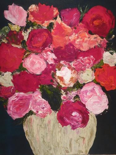 Oh, My Lovelies. Acrylic on canvas. 30 x 40. $1500