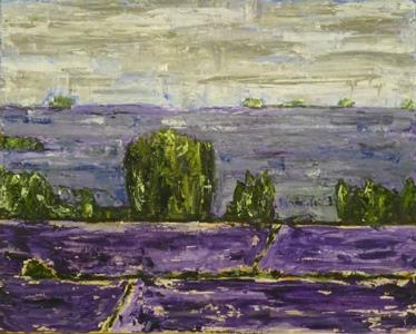 Lavender Fields -Aix En Provence. 24 x 26. Acrylic on canvas. 2015